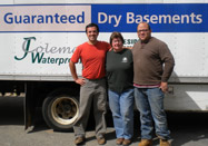 Jan, Wladie, and Nathan of JColeman Waterproofing
